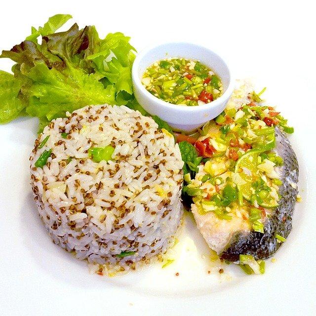 served rice