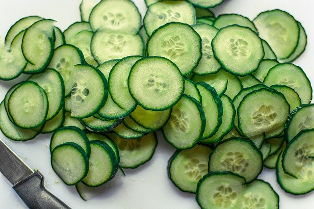 sliced organic cucumber
